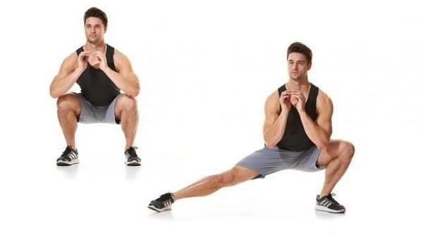 حرکت لانگ به کنار برای درمان زانو ضربدری