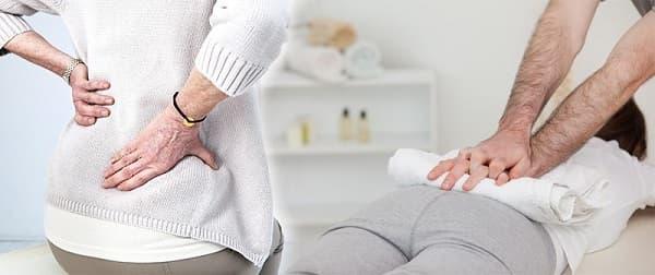 ماساژ کمر برای درمان درد دنبالچه